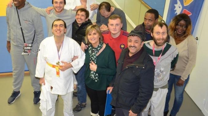 Championnat départemental de judo adapté