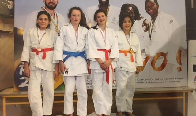 Nos judokas aux Championnats de Paris benjamin(e)